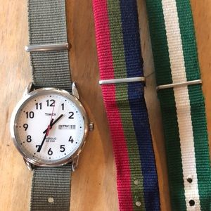 Men's Timex (for Jcrew) with 3 bands